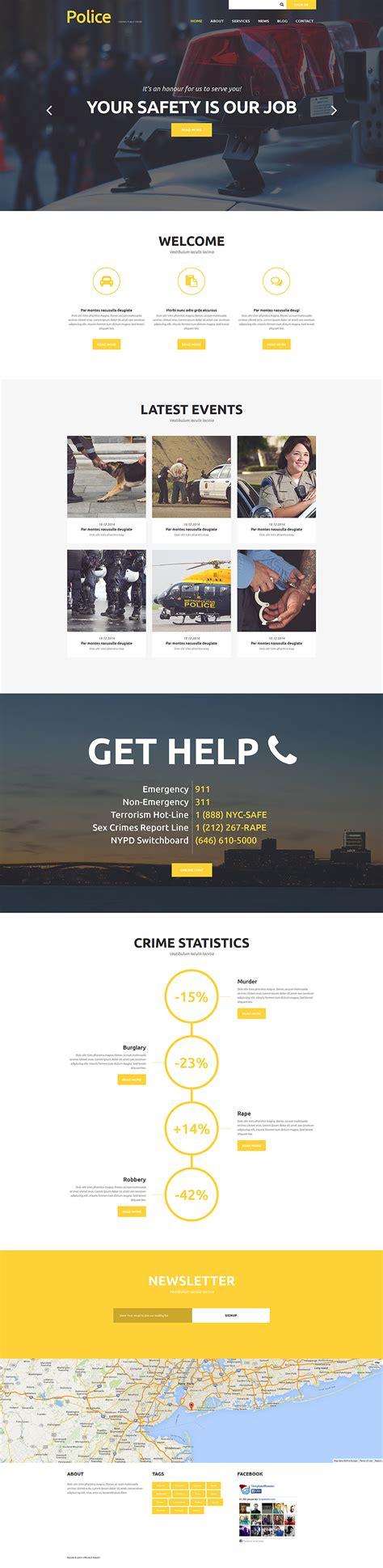 template joomla newsletter police department joomla theme