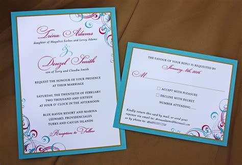 pink and aqua wedding invitations swirls and scrolls archives page 2 of 43 emdotzee designs