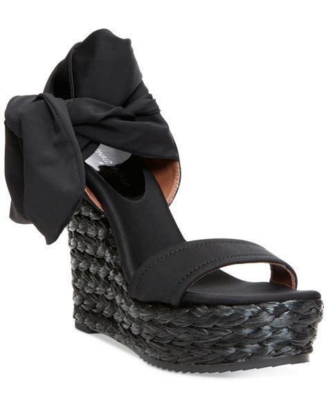 donald j pliner donald j pliner nela platform wedge sandals in black lyst