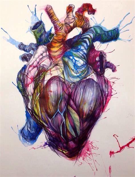 tattooed heart original artist heart drawing art pinterest tattoo drawings and anatomy