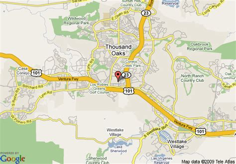 map of oakwood thousand oaks thousand oaks