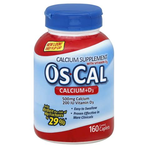 Os Cal os cal calcium supplement with vitamin d 500 d coated caplets 160 caplets health