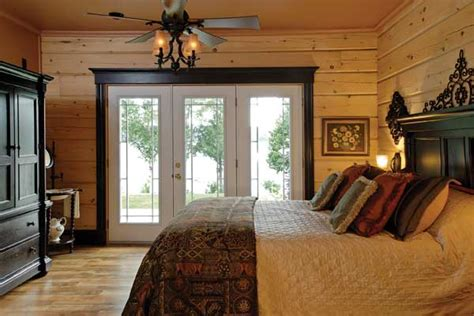 lakeside bedrooms a timber frame lakeside log cabin