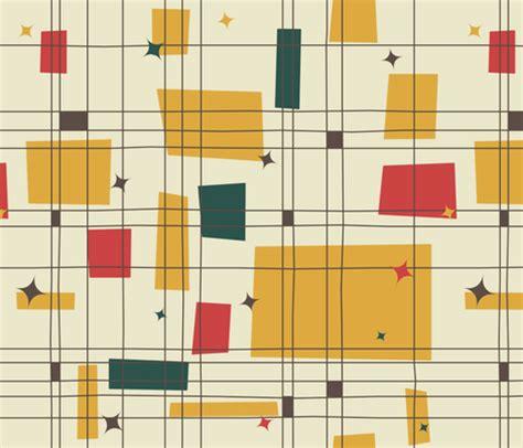 mid century patterns mid century modern grid stars wallpaper
