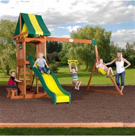 backyard discovery weston cedar swing set walmart com backyard discovery cedar swing sets from 299