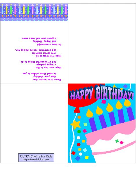 printable birthday cards for kids printable birthday cards