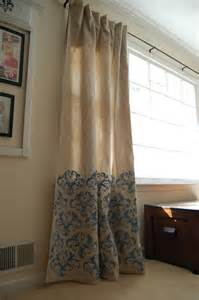 curtains made from drop cloths creative outlets of a thrifty minded momma stenciled drop