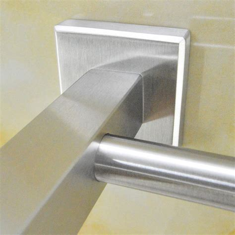 sus 304 stainless steel towel bar square wall shelf