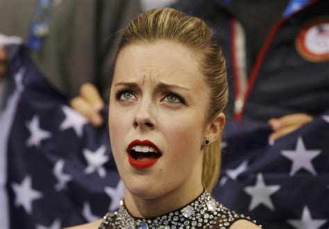 Ashley Wagner Memes - ashley wagner s reaction of disgust at sochi olympics