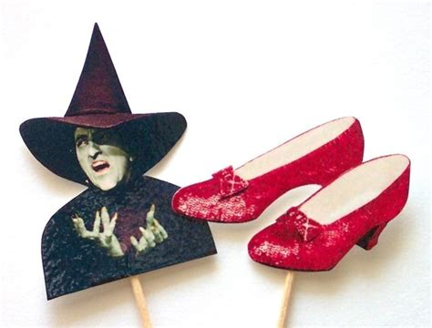 items similar to wizard of oz cupcake toppers set of