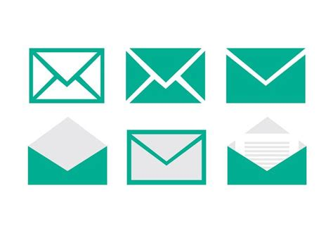 email icon vector set of email vector icons download free vector art