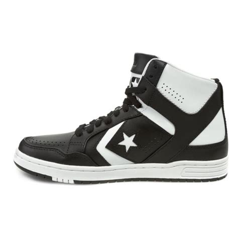 Converse Weapon S Mid sneakers converse weapon mid 144545c black white