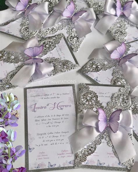 lilac butterfly invitation  units etsy butterfly
