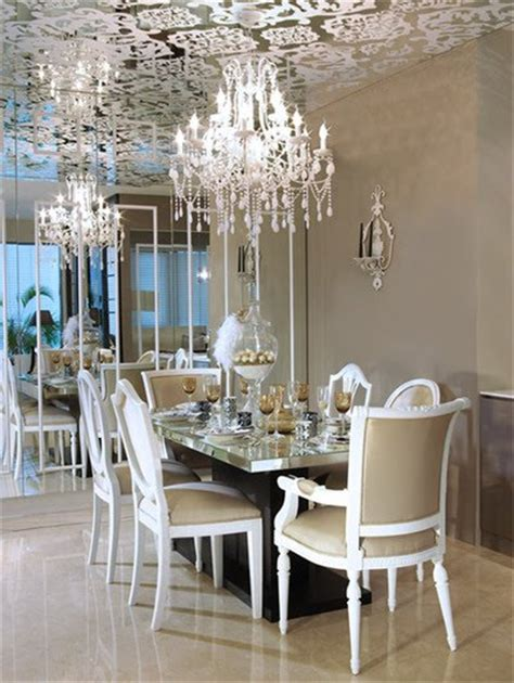 Mirror In Dining Room Interior Design by Glamorous Interiors A Beautiful Dining Room