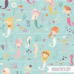 freelance pattern maker uk under the sea by the amazing heather rosas illustration