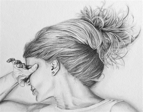 pencil sketches drawing lonely colour pencil portrait lonely colour pencil