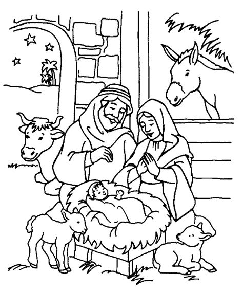 christmas coloring page for kids