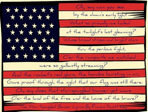 printable lyrics national anthem copy cat crafter free flag printable 4th of july and