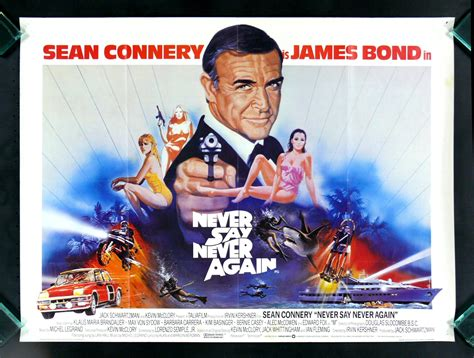 film barat james bon never say never again james bond england movie poster ebay