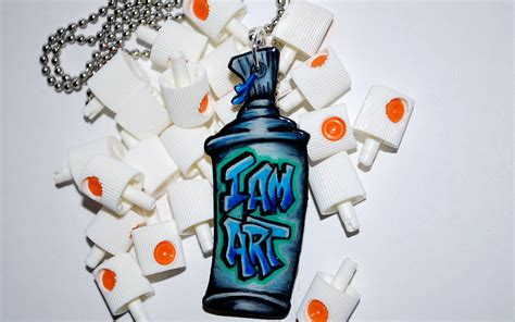 what of spray paint to use for graffiti graffiti spray paint can i am necklace by beebles by