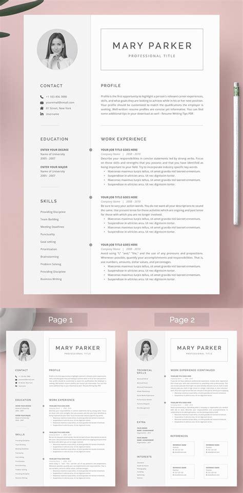 professional word resume templates design graphic