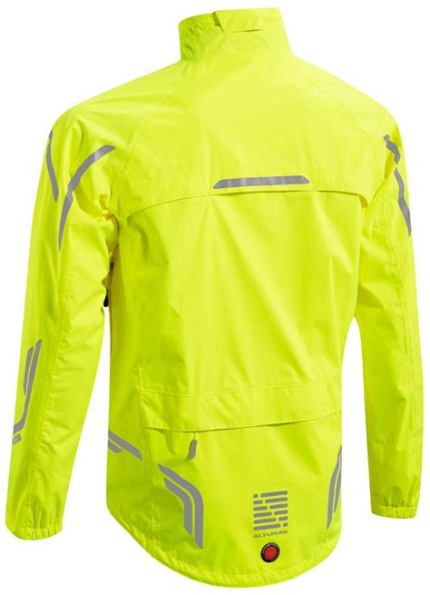 high visibility waterproof cycling jacket altura night vision mens waterproof cycling jacket hi vis