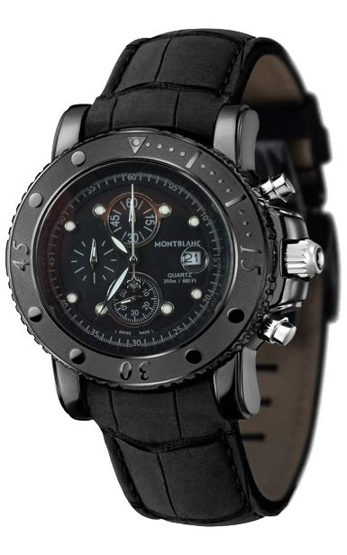 Montblanc Pj12121212 Cronograph Black Gradee Aaa montblanc sport watches china