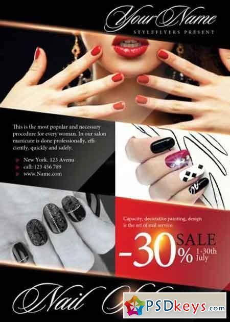 flyer templates nail salon nail 187 free download photoshop vector stock image via