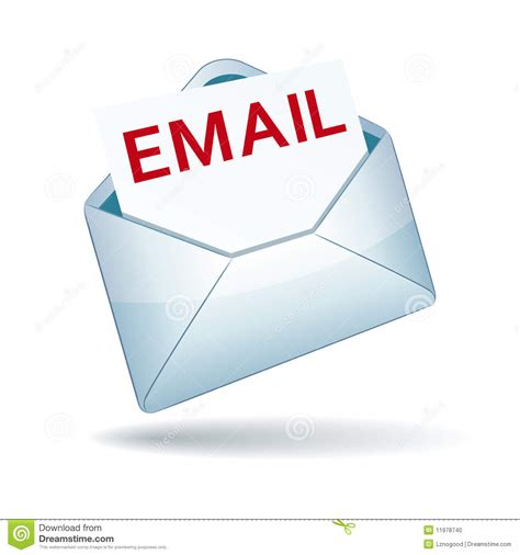 email or e mail email icon stock vector illustration of postage