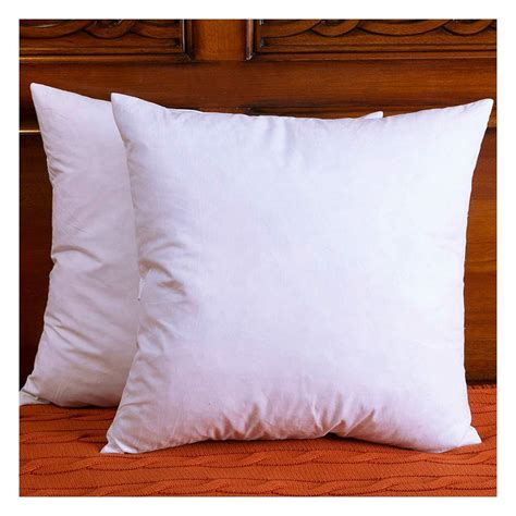 throw pillow inserts set of 2 cotton fabric throw pillows insert and
