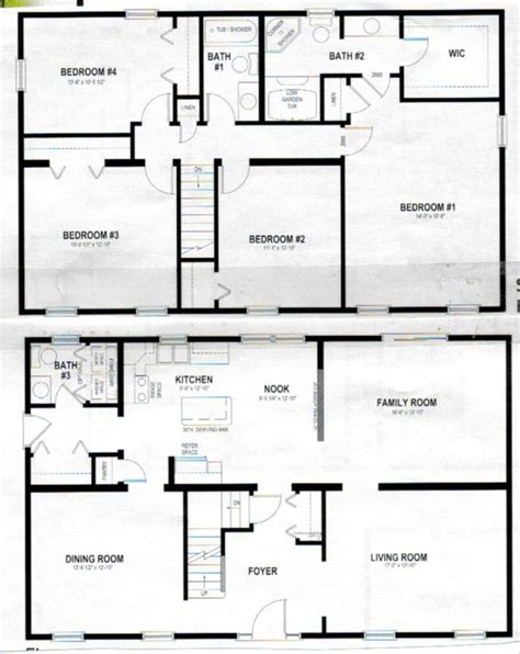 sle floor plans 2 story home marvelous house plans two story home decor pinterest