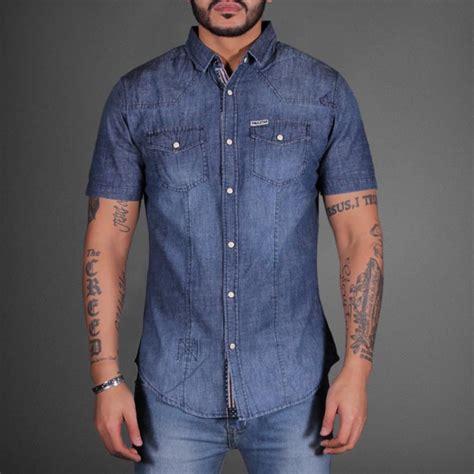 Denim Shirt sleeve denim shirt wehustle menswear