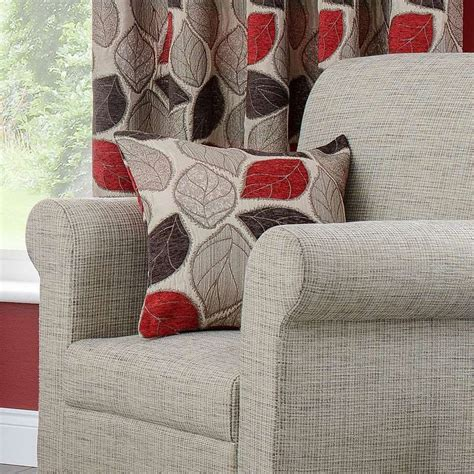 red sherwood lined eyelet curtains dunelm pattern