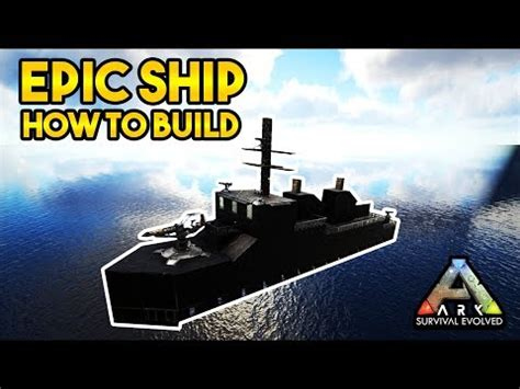 ark boat carrier carrier boat tutorial ark survival evolved doovi