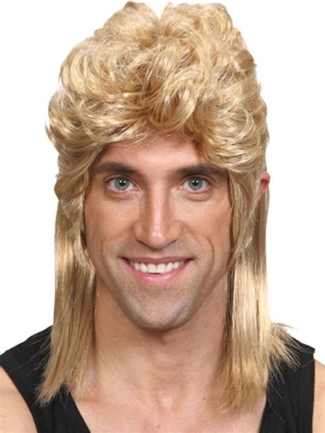 80s soft rock hair styles adult blonde mullet hillbilly fancy dress wig soft rock