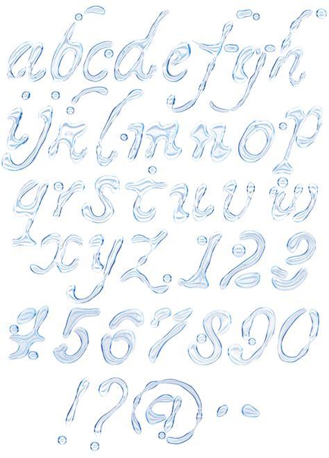 font design water water font handmadefont