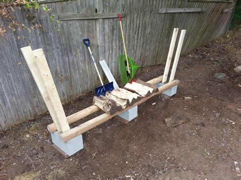 diy firewood rack cinder blocks firewood holder ftempo