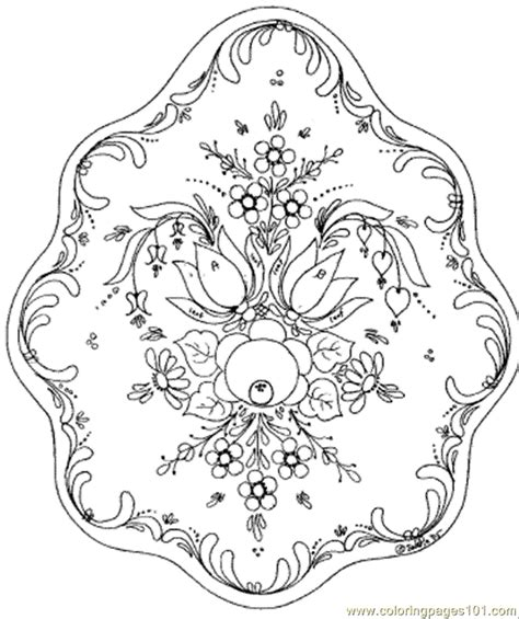 free coloring pages of circle pattern