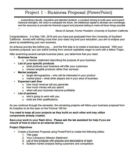 sample business proposals ms word