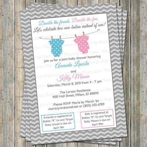 Joint Baby Shower Invitation Wording by 10 Excellent Joint Baby Shower Invitation Ebookzdb
