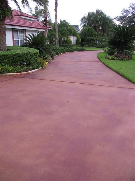 painted driveys   Home Driveway Restoration   Stained
