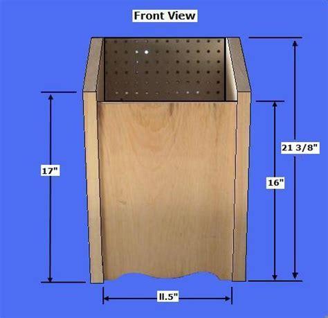 potato bin woodworking plans free potato bin plans how to make a vegetable storage bin
