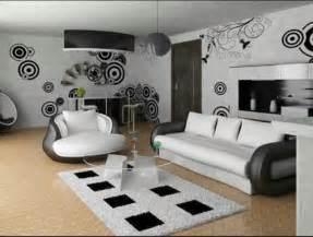 Black And White Design Room Modern White And Black Colored Living Room Design