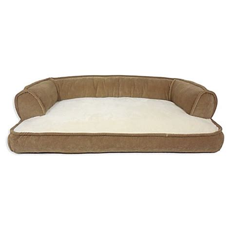 bed bath and beyond dog bed canine creations memory foam recliner sofa pet bed in