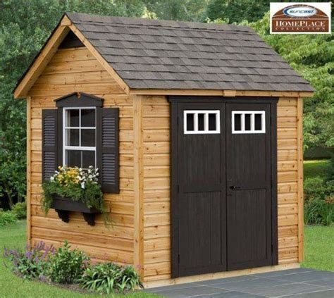 Wooden Garden Shed Kits by Legacy 8 X 6 Wood Garden And Storage Shed Building Kit Home Improvement Cottage