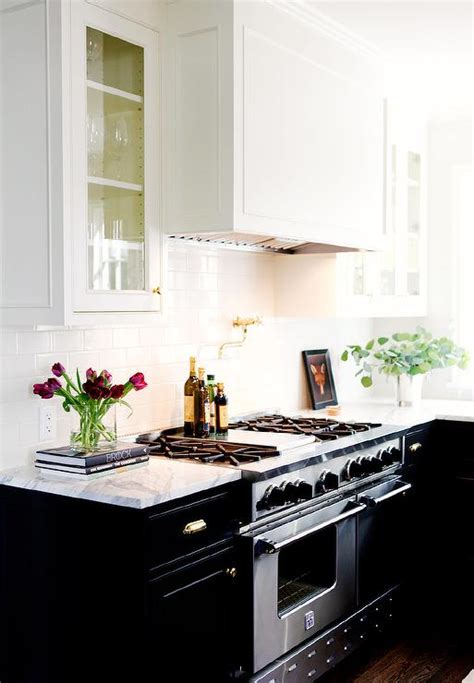black cabinets gold hardware design ideas