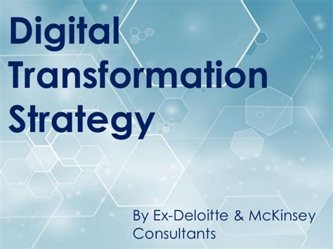 Digital Transformation Strategy Template And Training Digital Transformation Plan Template
