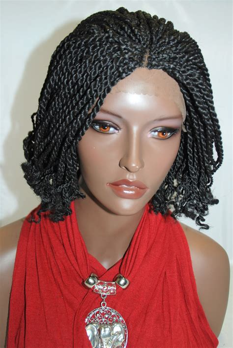 wigs to wear with braids braided lace front wig kinky twist http www