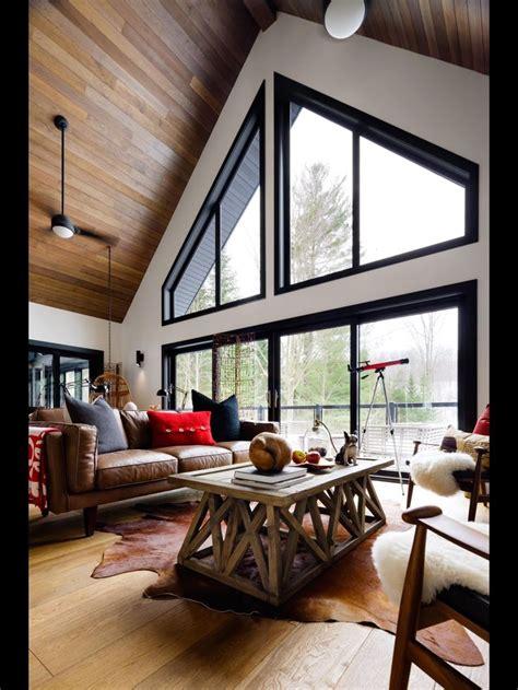 dark paint  trim farm house living room  frame house