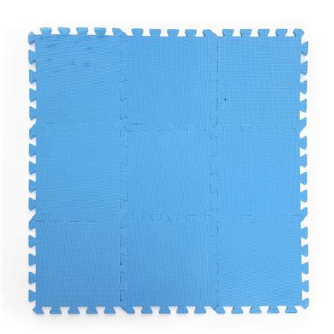 9 pieces anti fatigue puzzle floor foam mats pads blue